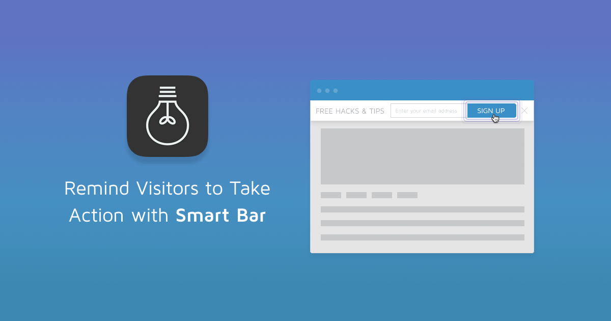 Sumo Smart Bar: Show Your Visitors A Special Offer